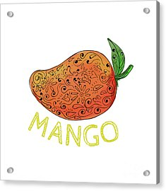 Mango Juicy Fruit Mandala  Acrylic Print