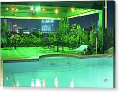Mango Park Hotel Roof Top Pool Acrylic Print