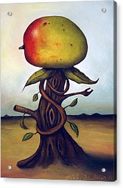 Mango Tree Aka Senor Mango Acrylic Print by Leah Saulnier The Painting Maniac
