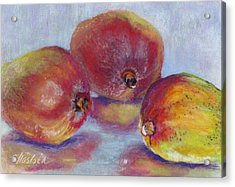 Mangos Acrylic Print by Carole Haslock