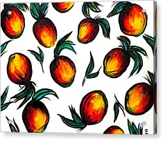 Mangos Acrylic Print by Erica Seckinger