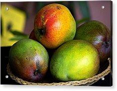 Mangos Acrylic Print by Gary Dean Mercer Clark