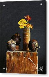 Mangosteens Acrylic Print by Larry Preston