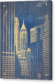 Manhattan 1 Acrylic Print by Naxart Studio