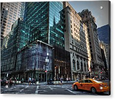 Manhattan - 5th Ave. 002 Acrylic Print by Lance Vaughn