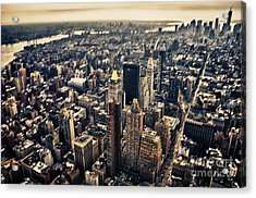 Manhattan Acrylic Print by Alessandro Giorgi Art Photography