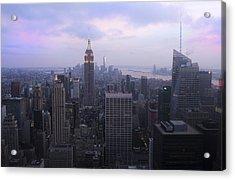Manhattan At Dawn Acrylic Print