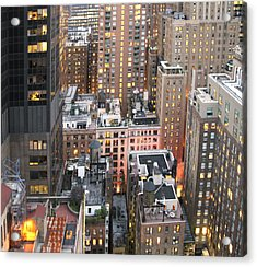 Manhattan At Dusk Acrylic Print
