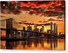Manhattan Bbq Acrylic Print by Az Jackson