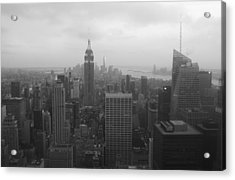 Manhattan Black And White Acrylic Print