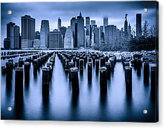 Acrylic Print featuring the photograph Manhattan Blues by Chris Lord