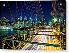 Manhattan Bound Acrylic Print by Az Jackson