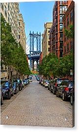 Acrylic Print featuring the photograph Manhattan Bridge by Emmanuel Panagiotakis