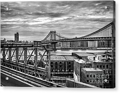 Manhattan Bridge Acrylic Print by John Farnan
