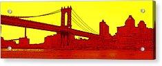 Manhattan Bridge Acrylic Print by Julie Lueders