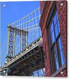 Acrylic Print featuring the photograph Manhattan Bridge by Mitch Cat