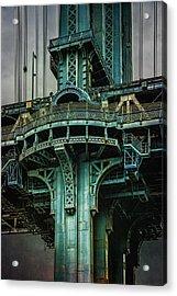 Manhattan Bridge Tower Acrylic Print