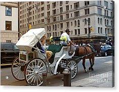 Manhattan Buggy Ride Acrylic Print by Madeline Ellis