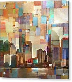 Manhattan Impression Acrylic Print by Lutz Baar