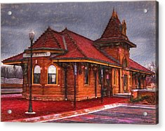 Manhattan Kansas Train Depot Acrylic Print