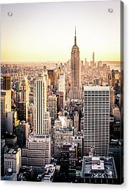 Manhattan Acrylic Print by Michael Weber