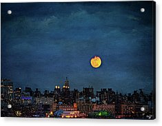 Manhattan Moonrise Acrylic Print