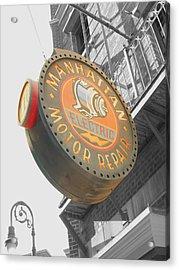Manhattan Motor Acrylic Print by Audrey Venute