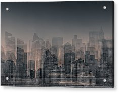 Manhattan Moves Acrylic Print by Az Jackson