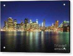 Manhattan Nite Lites Nyc Acrylic Print