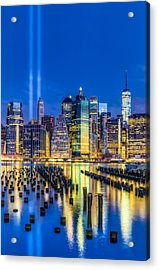 Manhattan Nyc 911 Tribute Acrylic Print