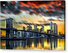 Manhattan Passion Acrylic Print by Az Jackson