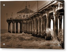 Manhattan Pier Splash Acrylic Print