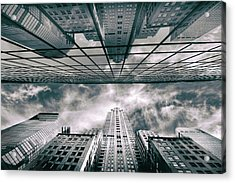 Acrylic Print featuring the photograph Manhattan Reflections by Jessica Jenney