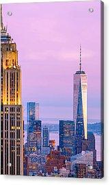 Manhattan Romance Acrylic Print by Az Jackson