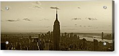 Manhattan Sky View Acrylic Print by Terry Cork