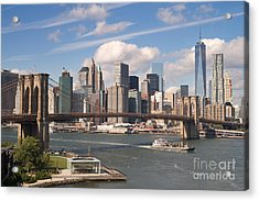 Manhattan Skyline Acrylic Print by Bryan Attewell
