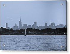 Manhattan Skyline From Syc 1 Acrylic Print by Arthur Sa