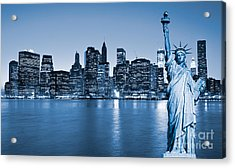Manhattan Skyline Acrylic Print by Luciano Mortula