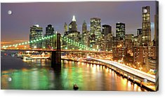 Manhattan Skyline Acrylic Print by Sean Pavone