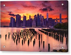 Acrylic Print featuring the photograph Manhattan Sunset by Rima Biswas