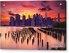 Manhattan Sunset Acrylic Print