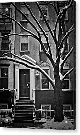 Acrylic Print featuring the photograph Manhattan Town House by Joan Reese