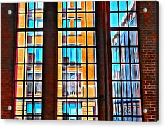Manhattan Windows Acrylic Print by Joan Reese