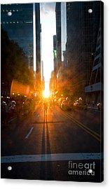 Manhattanhenge New York 2 Acrylic Print