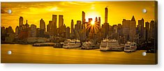 Manhattan's Ports At Sunrise Acrylic Print