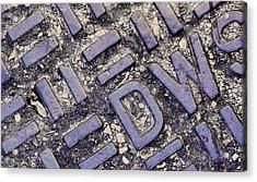 Manhole Cover Acrylic Print