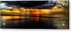 Manila Bay Sunset Acrylic Print by Adrian Evans