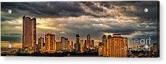 Manila Cityscape Acrylic Print by Adrian Evans