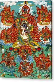 Maning Mahakala With Retinue Acrylic Print