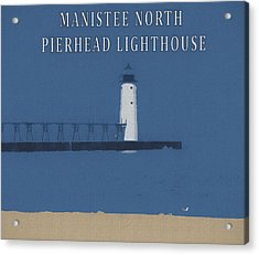 Manistee Lighthouse Poster Acrylic Print